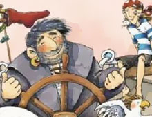 Schiff ahoi, Pirat Rotstrumpf!